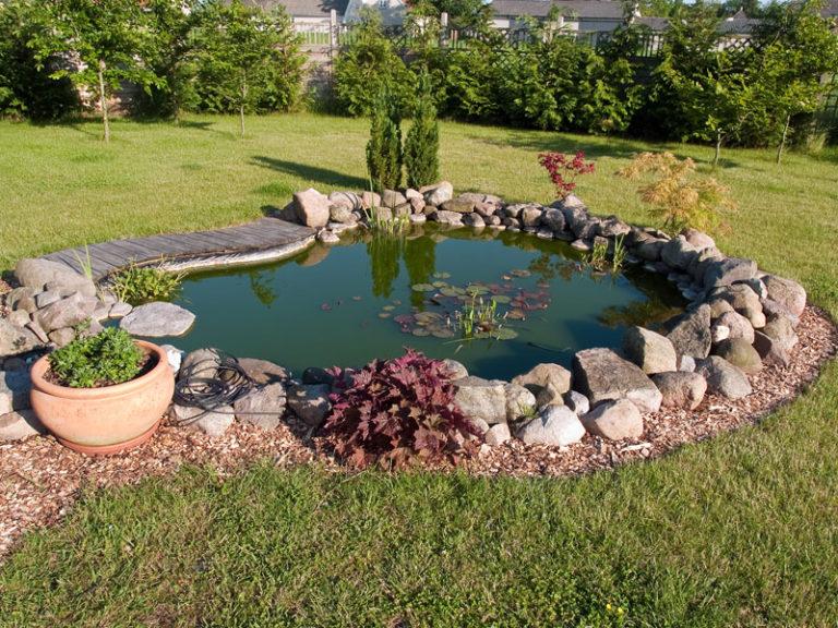 Декоративный водоем в саду своими руками