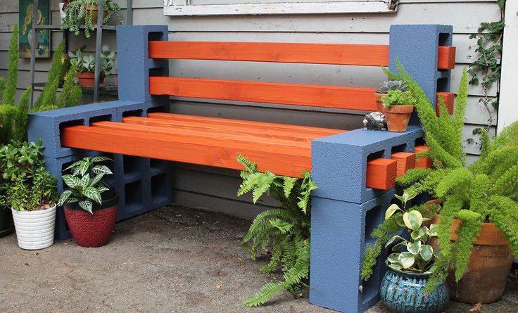 Для сада скамья своими руками
