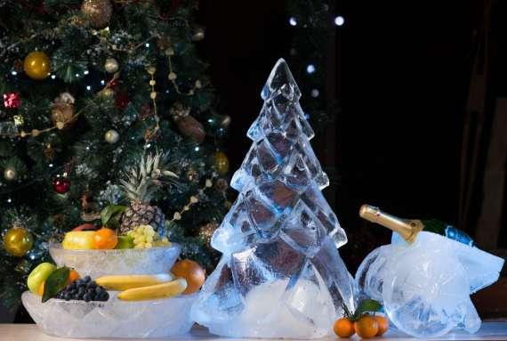 Как украсить своими руками на Новый год участок возле дома с созданием ледяных сооружений