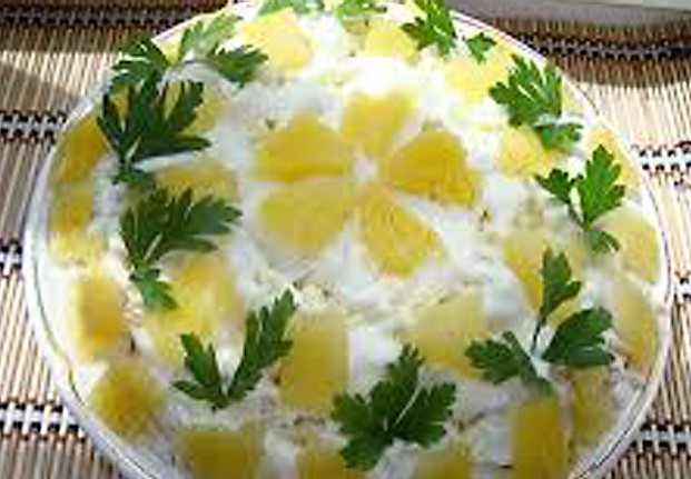 Рецепты салатов с простые и вкусные с курицей и ананасом