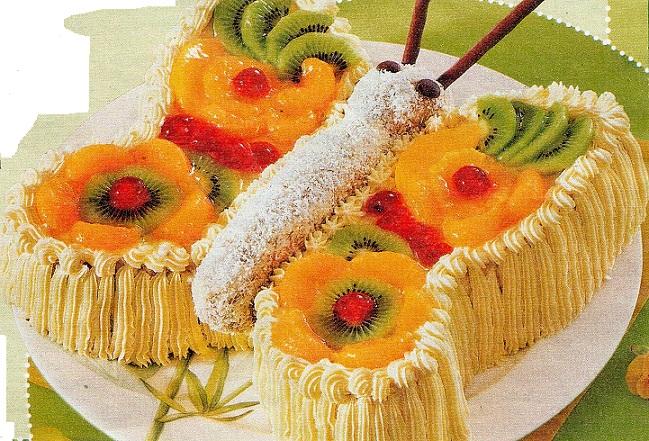 Вкусный торт - Бабочка