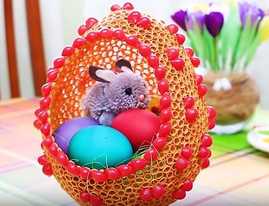 оригинальные поделки - пасхальное яйцо