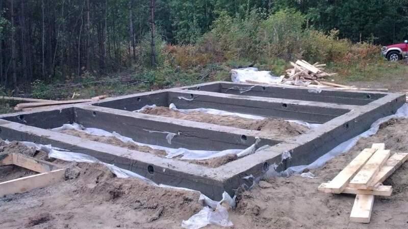 как построить баню с фундаментом ленточным