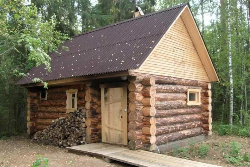 как построить баню из дерева