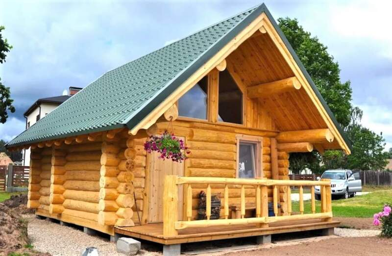 как построить бревенчатую баню