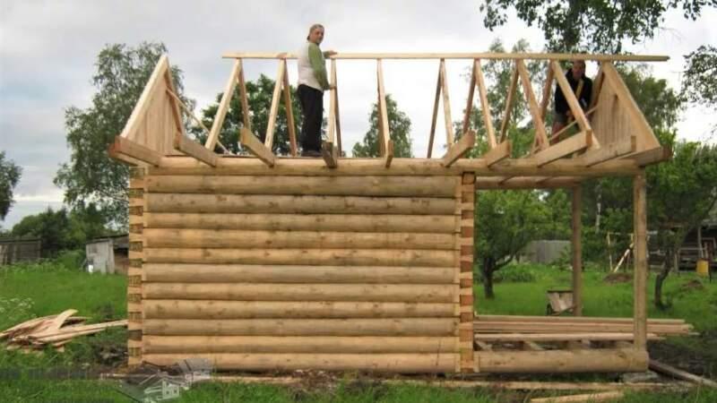 стропильные фермы - как построить баню