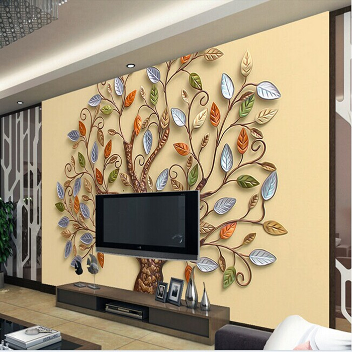 Continental-abstract-color-tree-mural-wallpaper-3d-stereoscopic-wallpaper-romantic-living-room-TV-backdrop-photo-wallpaper