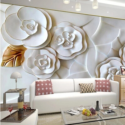 Custom-3d-photo-wallpaper-3D-embossed-wallpaper-wallpaper-modern-minimalist-living-room-TV-background-white-roses