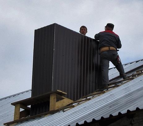 утепление вертикальной трубы на крыше