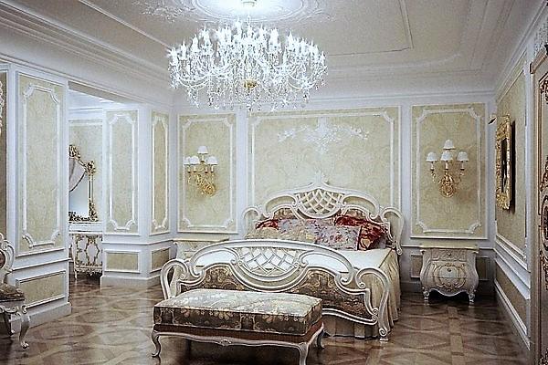 Интерьер спальни в стиле классицизм