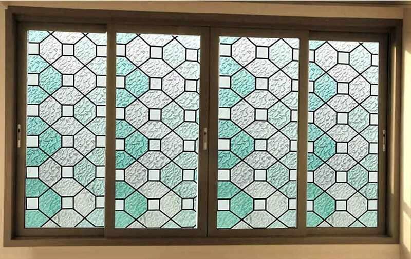стекла с орнаментом