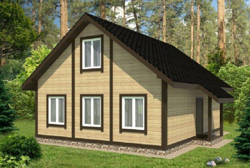 дом из деревянных панелей