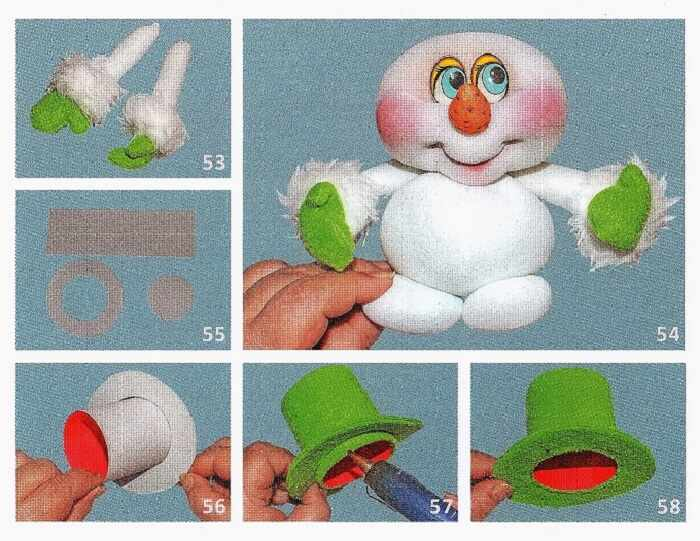 шляпа снеговика