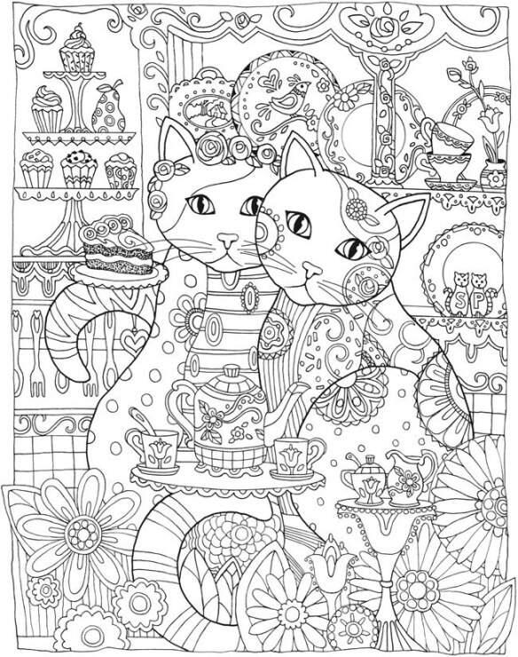 раскраски - кошки