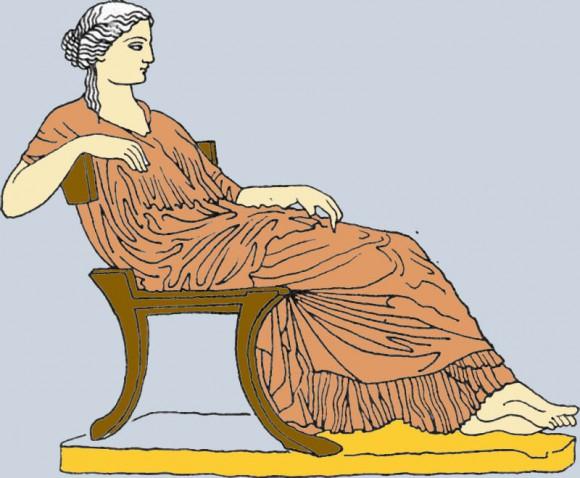 поза сидения женщины