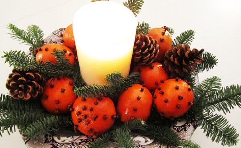 композиция со свечой