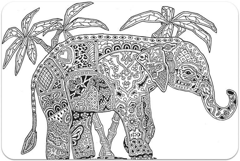 слон для раскрашивания