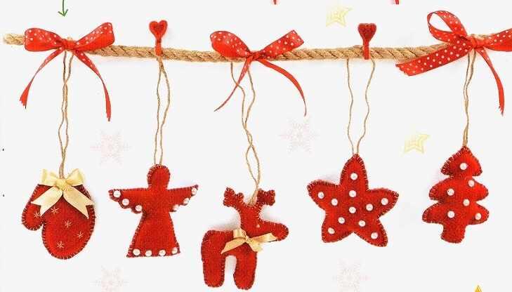 новогодние украшения в виде игрушек