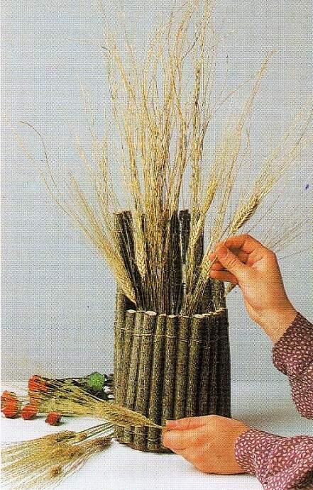 сухая трава для декора