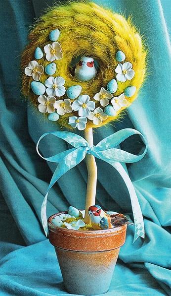 Пасхальный топиарий, сделанный своими руками