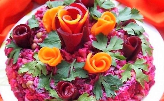 Украшения для стола из овощей и фруктов