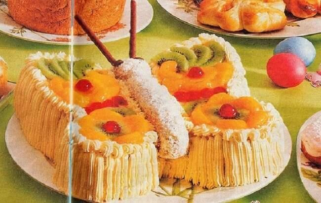 вкусная бабочка торт