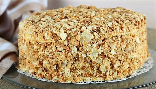 Постный рецепт торта Наполеон