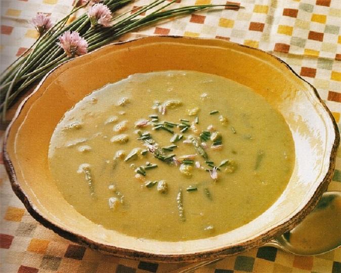 Постный суп из зеленой фасоли
