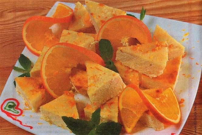 Апельсиновый манник готов