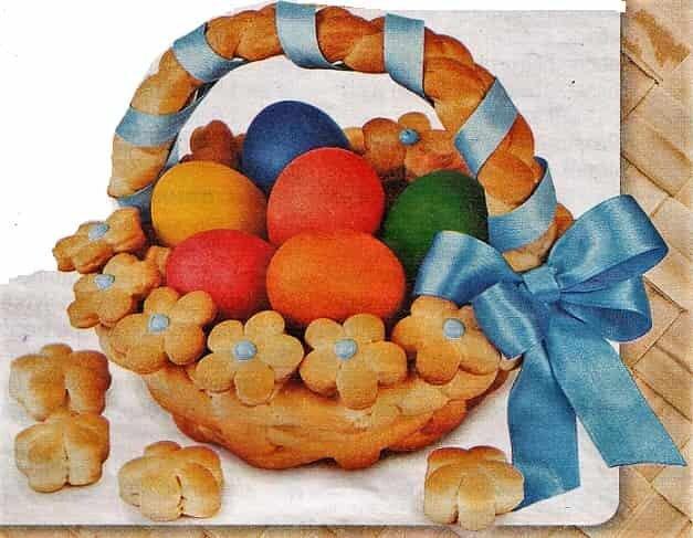 яйца в съедобной корзинке