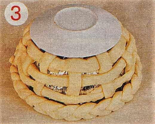 блюдце на карзинке