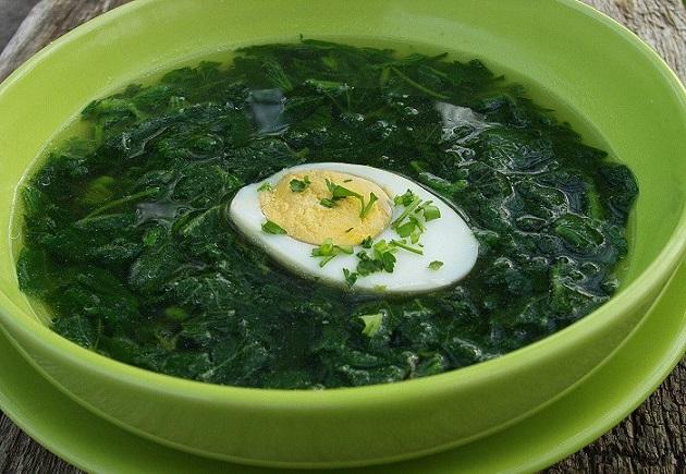 рецепт со щавелем и с яйцом