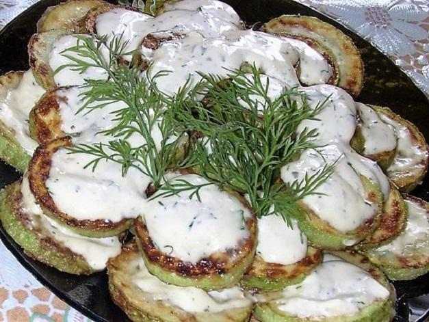 блюдо из кабачков в духовке
