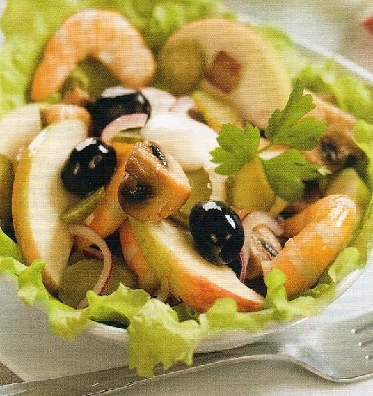 вкуснее салатов не бывает салат с креветками