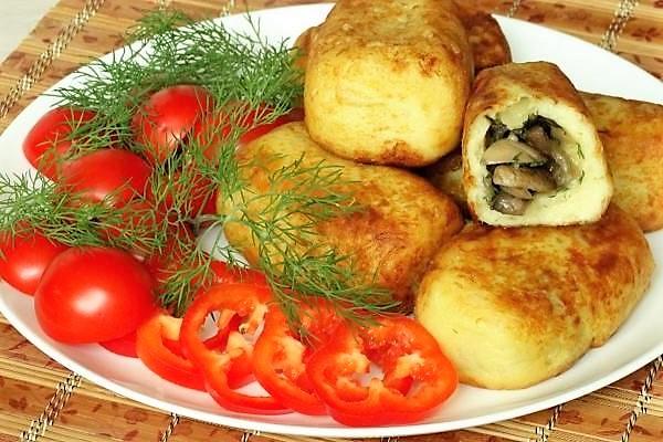 Картофельные зразы с разными начинками Мед в каждом ингредиенте