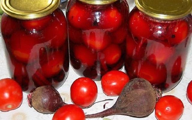 вкусные помидоры в з литровых банках