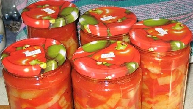 лечо из помидор и болгарского перца