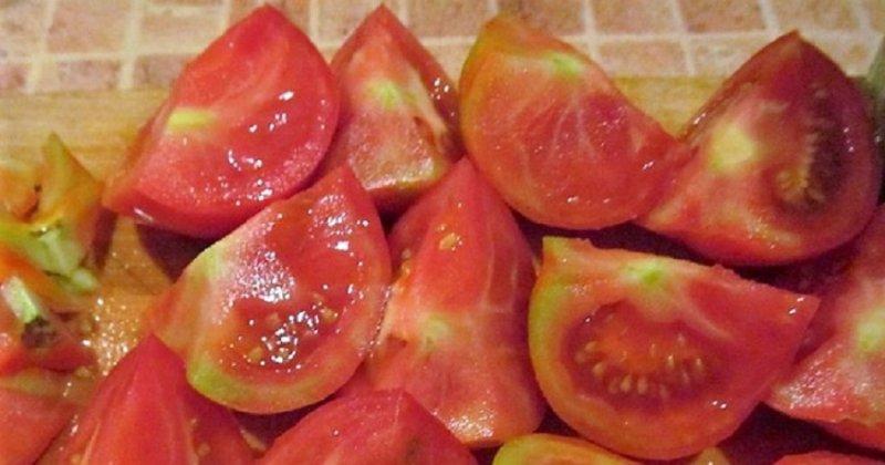 томаты дольками на зиму