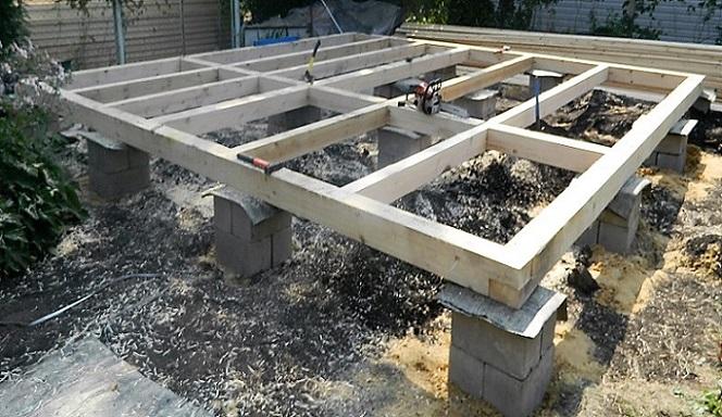 фундамент столбчатый для каркасных домов