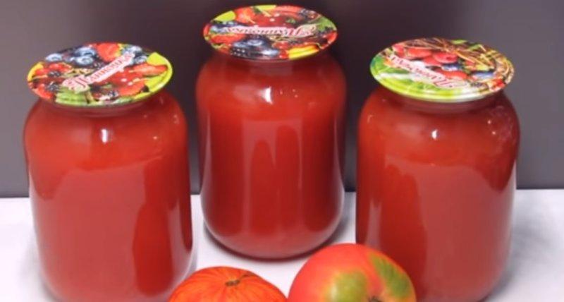 сок томатный в банках