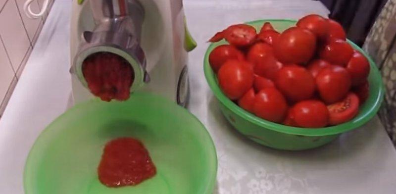 помидоры через мясорубку