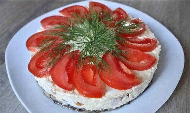 красивый вид салата