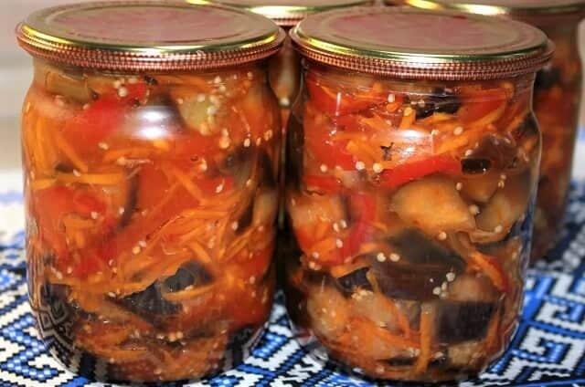 вкусные салаты из баклажан на зиму