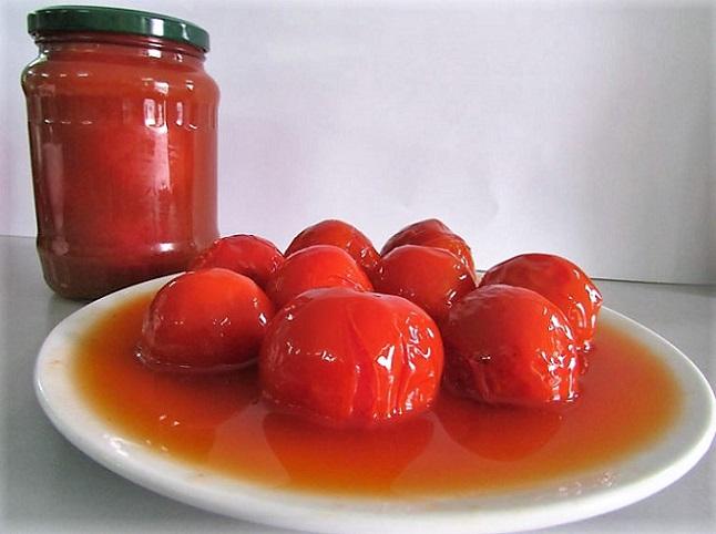 помидоры в томатном соку