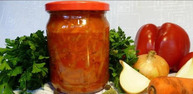 заготовка на зиму с перцем и помидорами