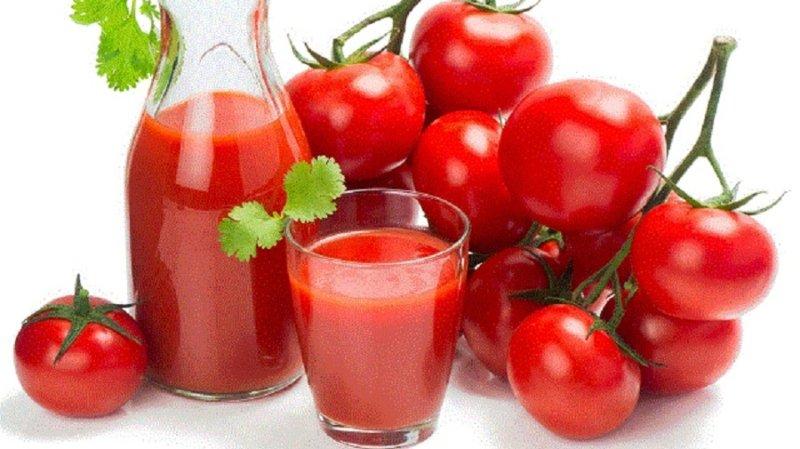 помидоры и сок