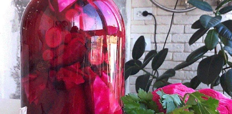 розовый цвет маринада