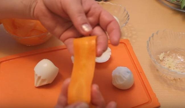 полоска тонкая из моркови
