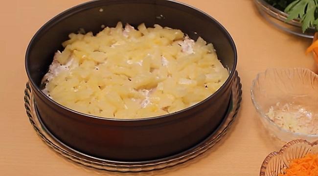 2 слой ананаса