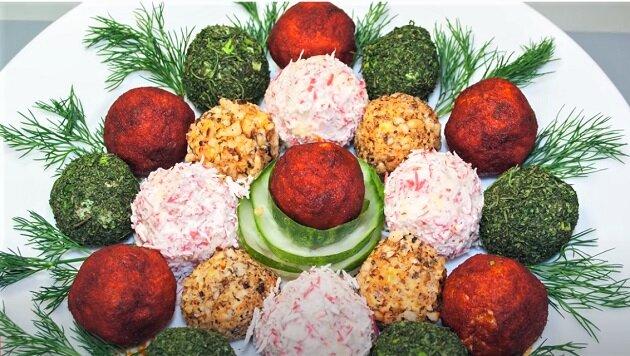 красивый салат из шариков